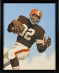 Football Collectibles:Others, 2018 Jim Brown Original Artwork by Arthur Miller. ...