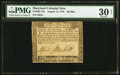 Colonial Notes:Maryland, Maryland August 14, 1776 $8 PMG Very Fine 30 Net.. ...
