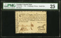 Colonial Notes:Georgia, Georgia 1776 - Ornaments instead of denomination on right 2s 6d PMGVery Fine 25.. ...