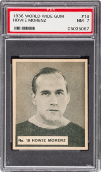 1937 V356 World Wide Gum Howie Morenz #18 PSA NM 7 - Only One Higher