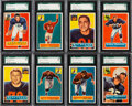 Football Cards:Sets, 1956 Topps Football Near Set (108/120) With 40 Graded Cards....