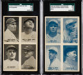 Baseball Cards:Lots, 1929-30 Exhibits Four-On-One Collection (21) With Color Variations.... (Total: 21 items)