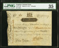 Colonial Notes:Virginia, Virginia March 4, 1773 £3 PMG Choice Very Fine 35.. ...