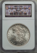 1885-CC $1 MS63 NGC. EX: Fitzgerald Collection. NGC Census: (3019/6252). PCGS Population: (5819/14038). CDN: $690 Whsle...