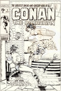 Original Comic Art:Covers, Barry Smith Conan the Barbarian #5 Cover Original Art(Marvel, 1971)....