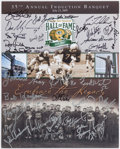 Autographs:Photos, 2005 Green Bay Packers Hall of Fame Banquet Multi-Signed Poster (32Signatures).. ...