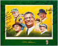 Autographs:Photos, Vince Lombardi Multi-Signed Commemorative Print (23 Signatures).....