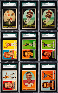 1957 & 1958 Topps Football Collection (113) With Unitas and 2 Brown Rookies