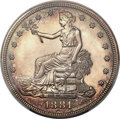 Proof Trade Dollars, 1881 T$1 PR62 Cameo PCGS Secure....