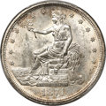 Trade Dollars, 1874-CC T$1 MS62 PCGS Secure....