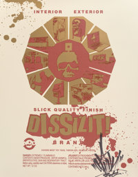 OG Slick (20th century) Dissizit!, 2012 Screenprint in colors on wove paper 22 x 17 inches (55.9