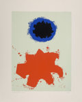 Fine Art - Work on Paper:Print, Adolph Gottlieb (1903-1974). Untitled, from PeacePortfolio I, 1970. Screenprint in colors on Rives BFK paper.20-1/...