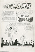 Original Comic Art:Panel Pages, Carmine Infantino and Joe Giella - The Flash #139, pages 1-7Original Art (DC, 1963). Professor Zoom, the Reverse-Flash from...