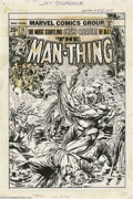 Original Comic Art:Covers, Tom Palmer and Gil Kane - Man-Thing #10 Cover Original Art (Marvel,1974). Snakes alive! The muck-encrusted Man-Thing takes ...