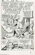 Original Comic Art:Splash Pages, Jack Kirby and Dick Ayers - Fantastic Four #9, page 1 Original Art(Marvel, 1962)....