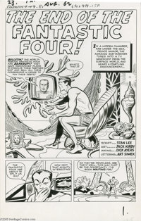 Jack Kirby and Dick Ayers - Fantastic Four #9, page 1 Original Art (Marvel, 1962)