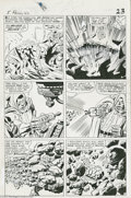 Original Comic Art:Panel Pages, Jack Kirby and Vince Colletta - Fantastic Four #40, page 17Original Art (Marvel, 1965). It's Clobberin' Time! Dr. Doom...