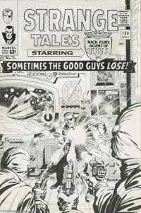 """Jack Kirby and John Severin - Strange Tales #138 Cover (Marvel, 1965). Wah-hoo -- """"Sometimes the Good Guys Lose&quo..."""