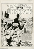 Original Comic Art:Splash Pages, Jack Kirby and Wally Wood - Challengers of the Unknown #7, page 1Original Art (DC, 1959). The scarcely-seen but always fasc...