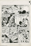Original Comic Art:Panel Pages, Joe Kubert - Flash Comics #97, Hawkman page 7 Original Art (DC,1948). Joe Kubert was but 21 or 22 years old when he drew th...