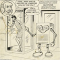Original Comic Art:Covers, Harry Lucey (attributed) - Betty and Big Ethel Cover Original Art(Archie, undated). Computer dating works -- Big Ethel land...