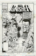 "Original Comic Art:Covers, Val Mayerik and Al Williamson - Punisher #61 Cover Original Art(Marvel, 1991). From the ""Crackdown"" storyline, written by M..."