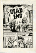 """Original Comic Art:Complete Story, Howard Nostrand - Witches Tales #21, complete 5-page Story, """"DeadEnd"""" Original Art (Harvey, 1953). Howard Nostrand would ha..."""
