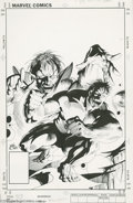 Original Comic Art:Covers, Kevin Nowlan - The Incredible Hulk #298 Cover Original Art (Marvel,1984). What hope do mere mortal men have against the mos... (2items)