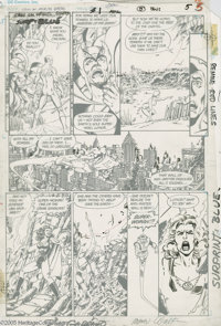 George Perez and Dick Giordano - Crisis on Infinite Earths #1, page 5 Original Art (DC, 1985). The alternative world her...