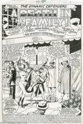 Original Comic Art:Splash Pages, Don Perlin and Pablo Marcos - The Defenders #89, Splash Page 1Original Art (Marvel, 1980). While the passers-by at Kyle Ric...