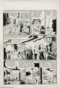 Jerry Robinson and George Roussos - Batman #13, page 4 Original Art (DC, 1942). Hold on to your cowls, Bat-fans! Here's...