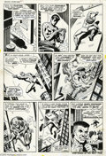 Original Comic Art:Panel Pages, John Romita Sr. and Jim Mooney - Amazing Spider-Man #82, page 3Original Art (Marvel, 1970). Peter Parker's money problems o...