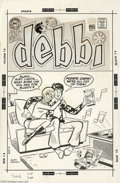 Original Comic Art:Covers, Henry Scarpelli - Date with Debbie #7 Cover Original Art (DC,1970). While Debbi is all about atmosphere and romance, Buddy'...(4 items)