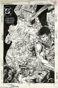 Original Comic Art:Covers, Bart Sears and Joe Rubinstein - Justice League Europe #7 CoverOriginal Art (DC, 1989). Following Crisis on Infinite Earth...