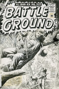 Original Comic Art:Covers, John Severin - Battle Ground #20 Cover Original Art (Atlas, 1957). This cornered G.I. is in a bit of a sticky wicket -- a sa...