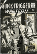 Original Comic Art:Covers, John Severin - Quick-Trigger Western #17 Cover Original Art (Atlas, 1957). Hands up, hombre- it's the law! Yee-haw -- take a...