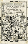 Original Comic Art:Covers, John Severin - Sgt. Fury Annual (King-Size Special) #5 CoverOriginal Art (Marvel, 1969). Sgt. Fury faces court martial, as ...