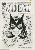 Original Comic Art:Covers, Joe Simon - Black Cat #2 Cover Original Art (Harvey, 1946). Thesecond issue of the sultry superheroine's solo book features...