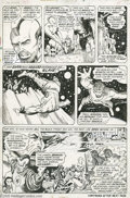 Original Comic Art:Panel Pages, Barry Smith and Joe Sinnott - The Avengers #100, page 12 OriginalArt (Marvel, 1972). Ares, the Olympian god of war, has use...