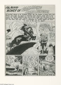 Original Comic Art:Splash Pages, Alex Toth - The Unseen #5 Splash Page 1 Original Art (StandardComics, 1952). When Alex Toth left DC Comics in the early fif...