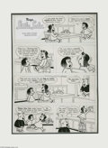 Original Comic Art:Panel Pages, Irving Tripp (attributed) - Little Lulu Title Page Original Art (Gold Key, undated). Little Lulu, Tubby, and Annie star in t...