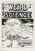 Original Comic Art:Covers, Wally Wood - Weird Science #18 Cover Original Art (EC, 1953). GoodLord! -- a science fiction fan would be hard-pressed to f...