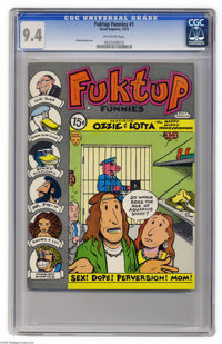 Fuktup Funnies #1 (Head Imports, 1972) CGC NM 9.4 Off-white pages. For every well-know Underground Comic of the 1970s, t...