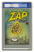 Silver Age (1956-1969):Alternative/Underground, Zap Comix #0 First Printing (Apex Novelties, 1967) CGC VG 4.0 Creamto off-white pages. Robert Crumb's first attempt at crea...