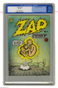 Zap Comix #0 First Printing (Apex Novelties, 1967) CGC VG 4.0 Cream to off-white pages. Robert Crumb's first attempt at...