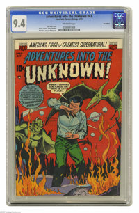 Adventures Into the Unknown #43 Northford pedigree (ACG, 1953) CGC NM 9.4 Off-white pages. Call it unknown, call it supe...