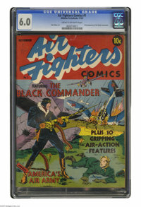 Air Fighters Comics #1 (Hillman Fall, 1941) CGC FN 6.0 Cream to off-white pages. Here is the premiere issue of a series...