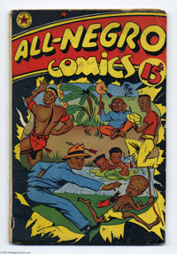 """All-Negro Comics #1 (All-Negro Comics, 1947) Condition: FR/GD. This one-shot is a Gerber """"9,"""" or """"very ra..."""