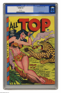 All Top Comics #12 (Fox Features Syndicate, 1948) CGC VF/NM 9.0 White pages. All of Fox Features' brightest stars are on...