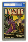 Golden Age (1938-1955):Science Fiction, Amazing Adventures #1 (Ziff-Davis, 1950) CGC VF- 7.5 Cream tooff-white pages. This issue's painted cover is by pulp artist ...